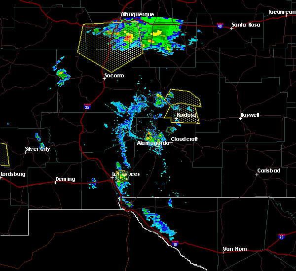 Radar Image for Severe Thunderstorms near Ruidoso Downs, NM at 7/31/2020 7:29 PM MDT