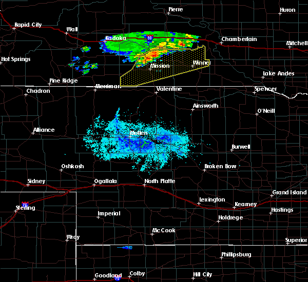 Radar Image for Severe Thunderstorms near Mission, SD at 7/31/2020 8:36 PM CDT