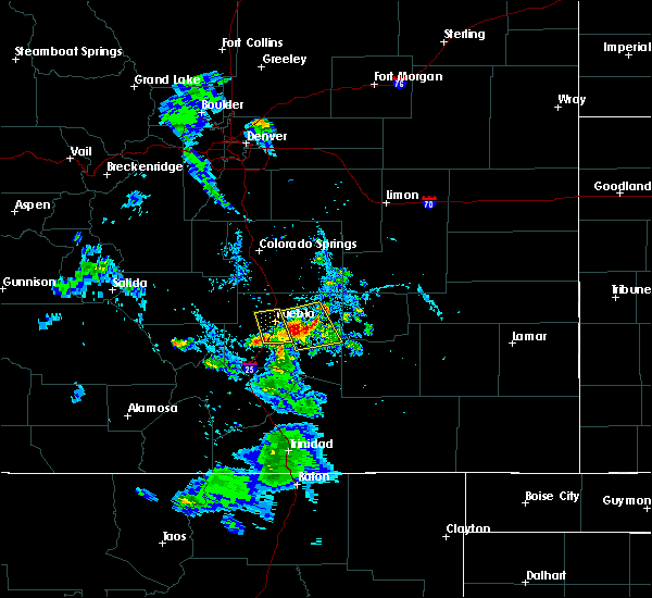 Radar Image for Severe Thunderstorms near Pueblo, CO at 7/31/2020 7:50 PM MDT