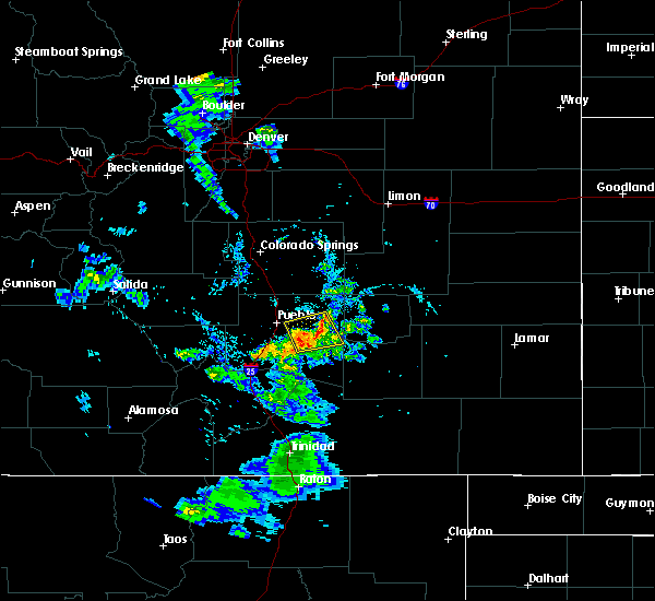 Radar Image for Severe Thunderstorms near Pueblo, CO at 7/31/2020 7:59 PM MDT