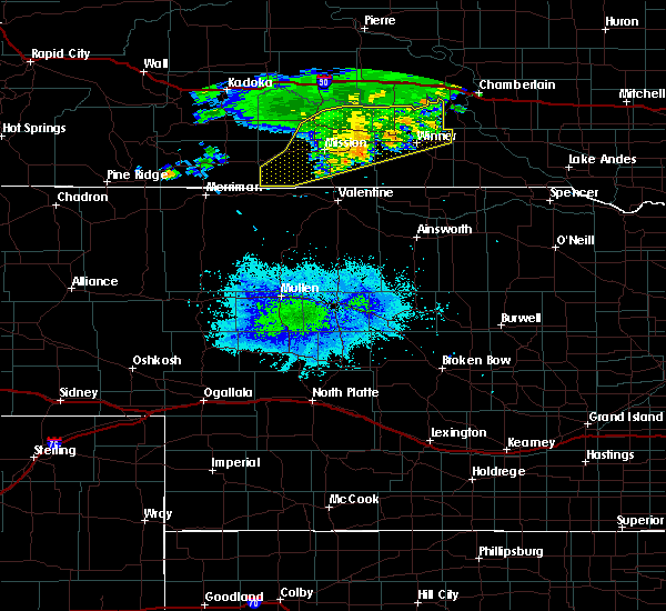 Radar Image for Severe Thunderstorms near Mission, SD at 7/31/2020 8:59 PM CDT