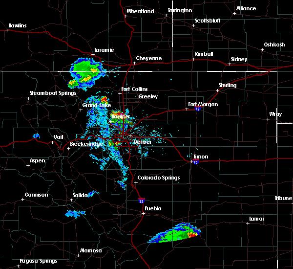 Radar Image for Severe Thunderstorms near Erie, CO at 7/31/2020 8:52 PM MDT