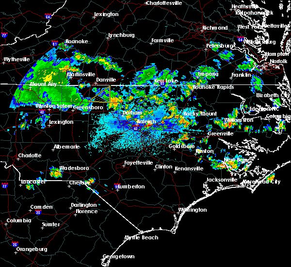 Radar Image for Severe Thunderstorms near Creedmoor, NC at 8/1/2020 12:40 AM EDT