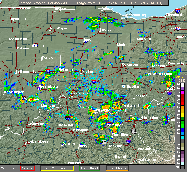 Radar Image for Severe Thunderstorms near Lucasville, OH at 8/1/2020 3:13 PM EDT