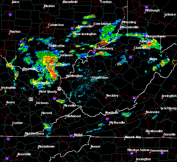 Radar Image for Severe Thunderstorms near Greenup, KY at 8/1/2020 4:01 PM EDT