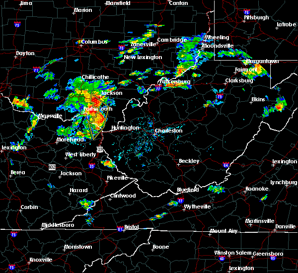 Radar Image for Severe Thunderstorms near Wellston, OH at 8/1/2020 4:26 PM EDT