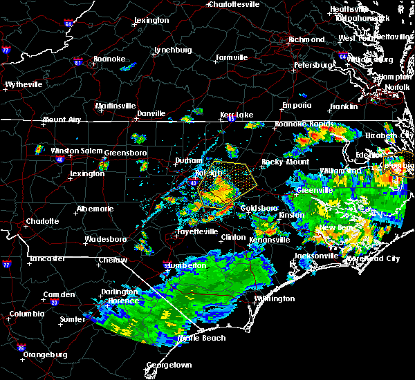 Radar Image for Severe Thunderstorms near Smithfield, NC at 8/1/2020 4:50 PM EDT