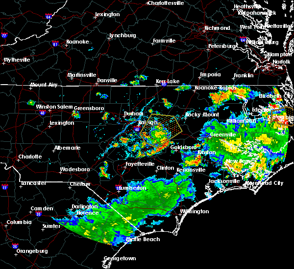 Radar Image for Severe Thunderstorms near Smithfield, NC at 8/1/2020 5:04 PM EDT