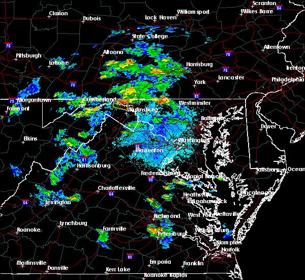 Radar Image for Severe Thunderstorms near Pecktonville, MD at 8/1/2020 9:05 PM EDT