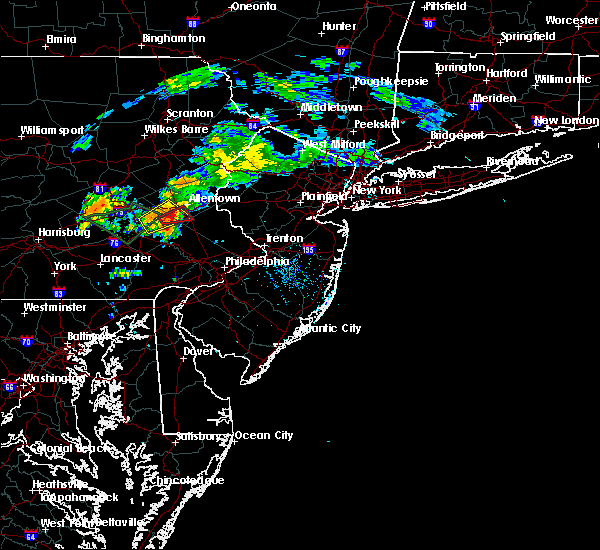 Radar Image for Severe Thunderstorms near Wescosville, PA at 8/2/2020 7:08 AM EDT