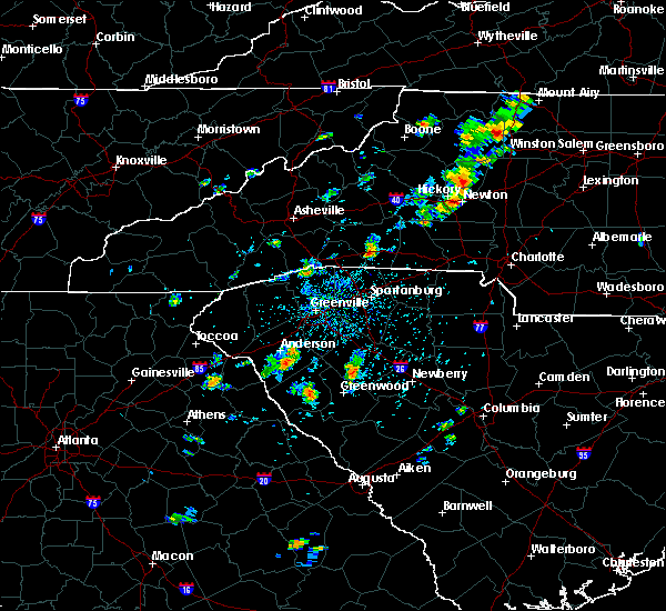 Radar Image for Severe Thunderstorms near Catawba, NC at 8/2/2020 3:33 PM EDT