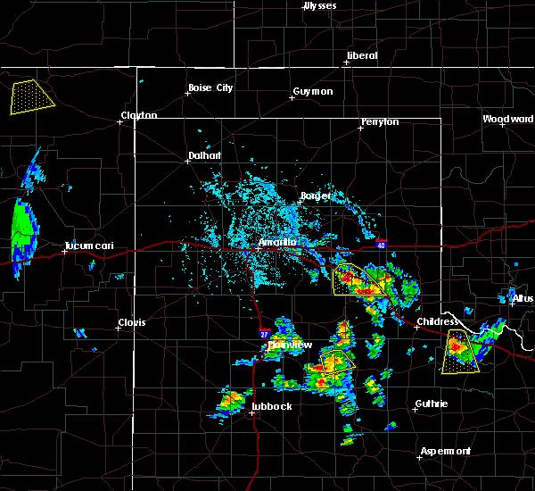 Radar Image for Severe Thunderstorms near Howardwick, TX at 8/2/2020 4:48 PM CDT