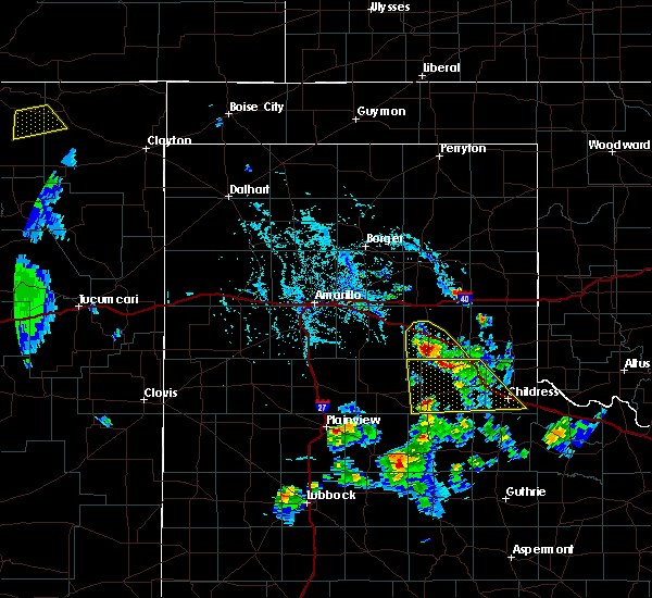 Radar Image for Severe Thunderstorms near Clarendon, TX at 8/2/2020 5:07 PM CDT