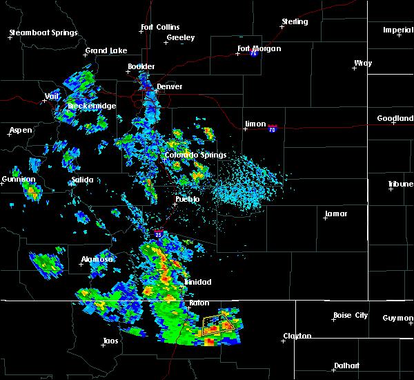Radar Image for Severe Thunderstorms near Capulin, NM at 8/2/2020 4:09 PM MDT
