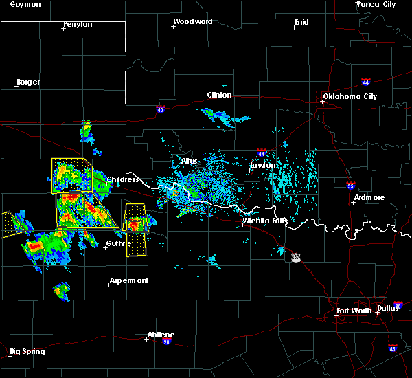 Radar Image for Severe Thunderstorms near Benjamin, TX at 8/2/2020 5:41 PM CDT