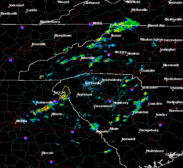 Radar Image for Severe Thunderstorms near Westminster, SC at 8/2/2020 6:42 PM EDT