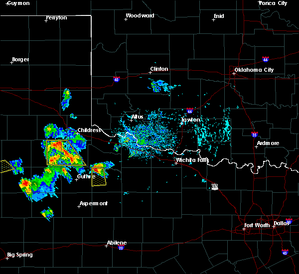 Radar Image for Severe Thunderstorms near Benjamin, TX at 8/2/2020 6:00 PM CDT
