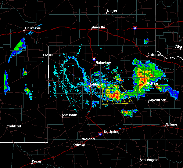 Radar Image for Severe Thunderstorms near Post, TX at 8/2/2020 6:35 PM CDT