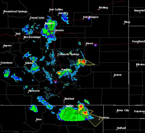 Radar Image for Severe Thunderstorms near Grenville, NM at 8/2/2020 6:13 PM MDT