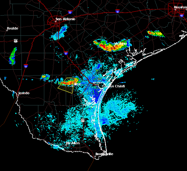 Radar Image for Severe Thunderstorms near Coyote Acres, TX at 8/2/2020 8:18 PM CDT