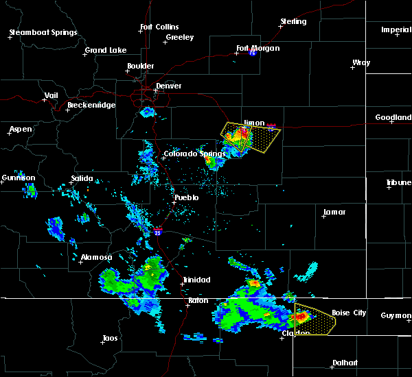 Radar Image for Severe Thunderstorms near Hugo, CO at 8/2/2020 8:55 PM MDT