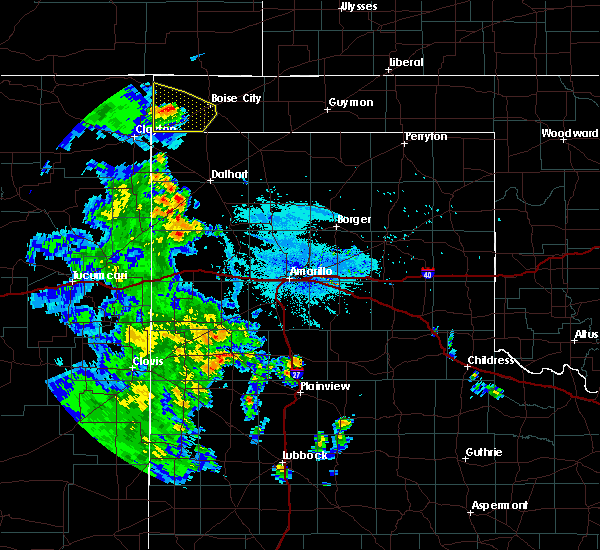 Radar Image for Severe Thunderstorms near Boise City, OK at 8/2/2020 10:11 PM CDT
