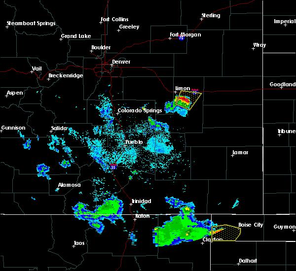 Radar Image for Severe Thunderstorms near Hugo, CO at 8/2/2020 9:16 PM MDT