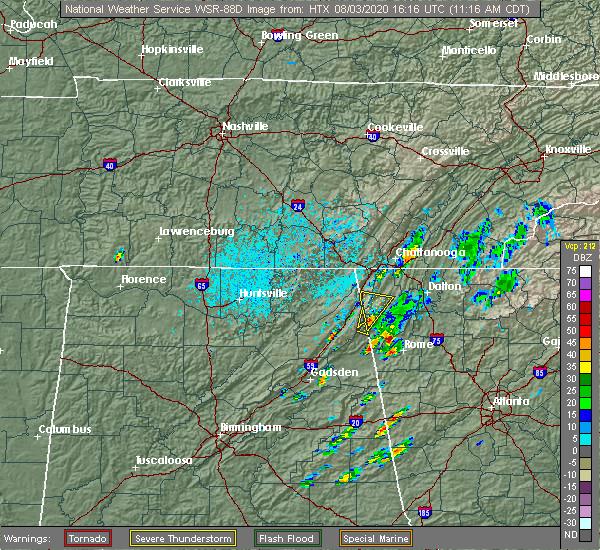 Radar Image for Severe Thunderstorms near LaFayette, GA at 8/3/2020 12:18 PM EDT