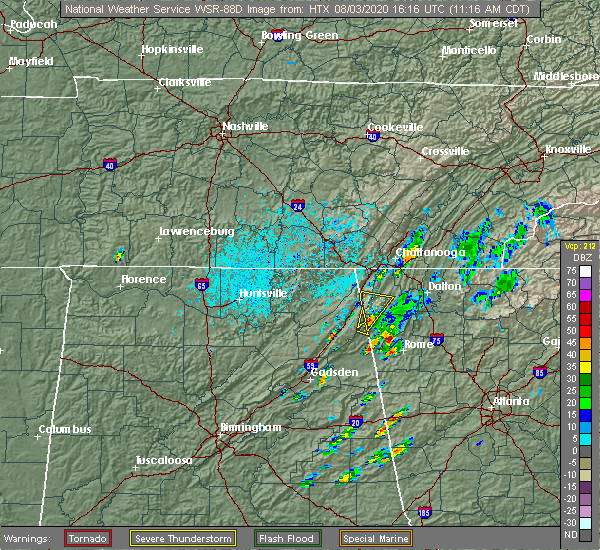 Radar Image for Severe Thunderstorms near Adairsville, GA at 8/3/2020 12:23 PM EDT