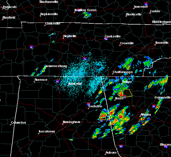 Radar Image for Severe Thunderstorms near Adairsville, GA at 8/3/2020 1:23 PM EDT