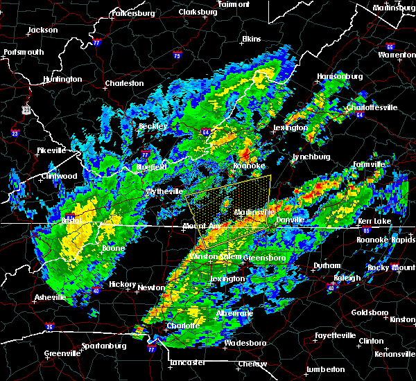 Radar Image for Severe Thunderstorms near Union Hall, VA at 8/3/2020 1:40 PM EDT