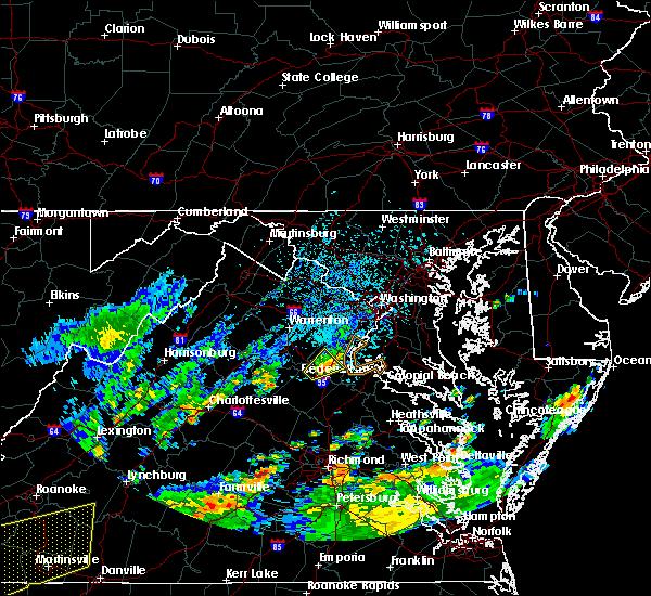 Radar Image for Severe Thunderstorms near Fredericksburg, VA at 8/3/2020 2:05 PM EDT