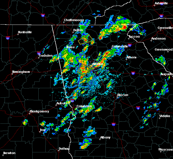 Radar Image for Severe Thunderstorms near Buford, GA at 8/3/2020 2:13 PM EDT