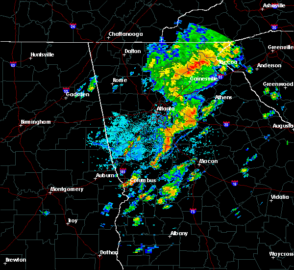 Radar Image for Severe Thunderstorms near Jersey, GA at 8/3/2020 3:42 PM EDT