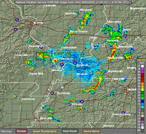 Radar Image for Severe Thunderstorms near Olive Branch, IL at 8/3/2020 4:39 PM CDT