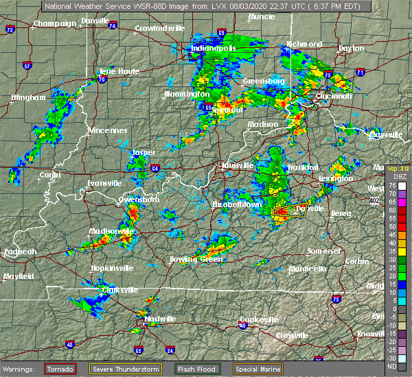 Radar Image for Severe Thunderstorms near Burgin, KY at 8/3/2020 6:41 PM EDT