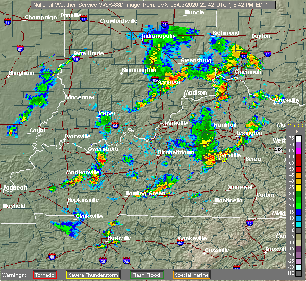 Radar Image for Severe Thunderstorms near Burgin, KY at 8/3/2020 6:47 PM EDT