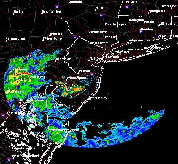 Radar Image for Severe Thunderstorms near Turnersville, NJ at 8/3/2020 7:05 PM EDT