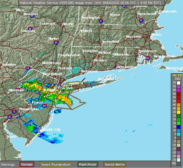 Radar Image for Severe Thunderstorms near Upper Brookville, NY at 8/3/2020 8:59 PM EDT