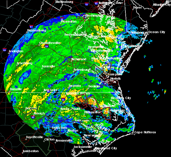 Radar Image for Severe Thunderstorms near Creswell, NC at 8/4/2020 2:14 AM EDT