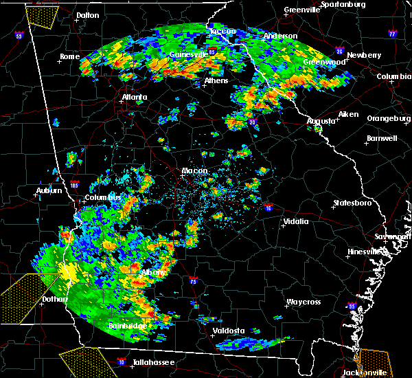Radar Image for Severe Thunderstorms near Sycamore, GA at 7/2/2015 3:31 PM EDT