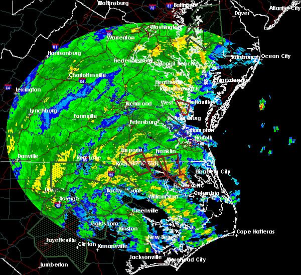 Radar Image for Severe Thunderstorms near Suffolk, VA at 8/4/2020 2:40 AM EDT