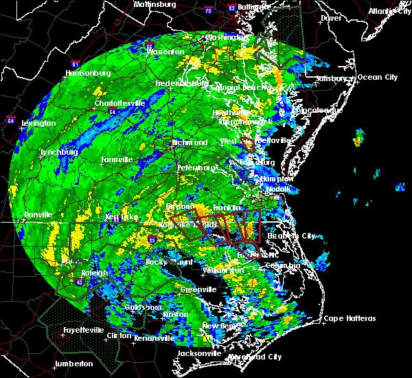 Radar Image for Severe Thunderstorms near Suffolk, VA at 8/4/2020 2:49 AM EDT