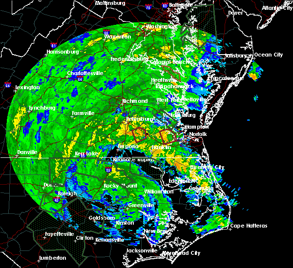 Radar Image for Severe Thunderstorms near Suffolk, VA at 8/4/2020 3:41 AM EDT