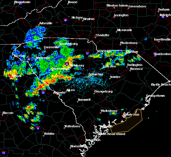Radar Image for Severe Thunderstorms near Murphys Estates, SC at 7/2/2015 3:55 PM EDT