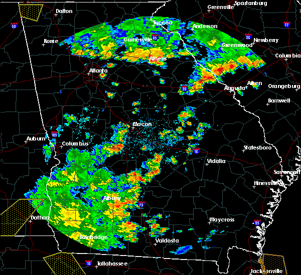 Radar Image for Severe Thunderstorms near Sycamore, GA at 7/2/2015 4:01 PM EDT