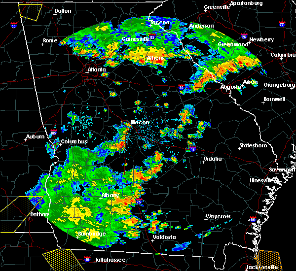 Radar Image for Severe Thunderstorms near Milan, GA at 7/2/2015 4:09 PM EDT