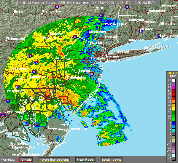 Radar Image for Severe Thunderstorms near Wind Gap, PA at 8/4/2020 9:32 AM EDT