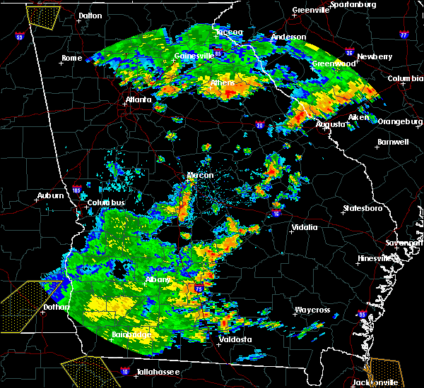 Radar Image for Severe Thunderstorms near Milan, GA at 7/2/2015 4:22 PM EDT