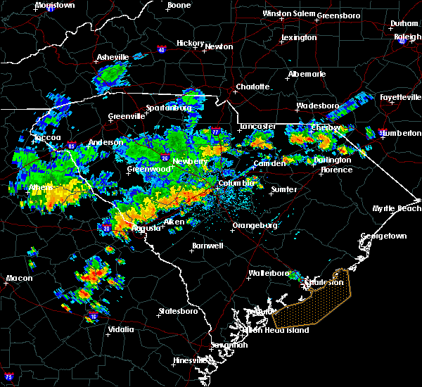 Radar Image for Severe Thunderstorms near Camden, SC at 7/2/2015 4:33 PM EDT